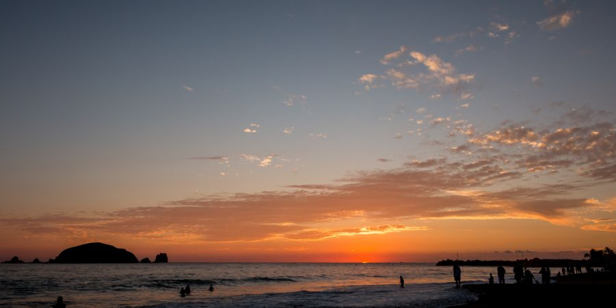Atardecer Playa El Palmar Ixtapa